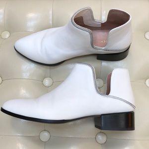 Nordstrom Halogen genuine leather white booties, 8